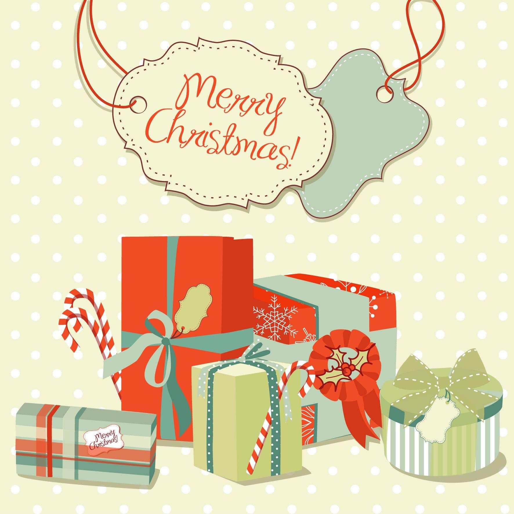 Free Vector Beautiful Christmas Design 03