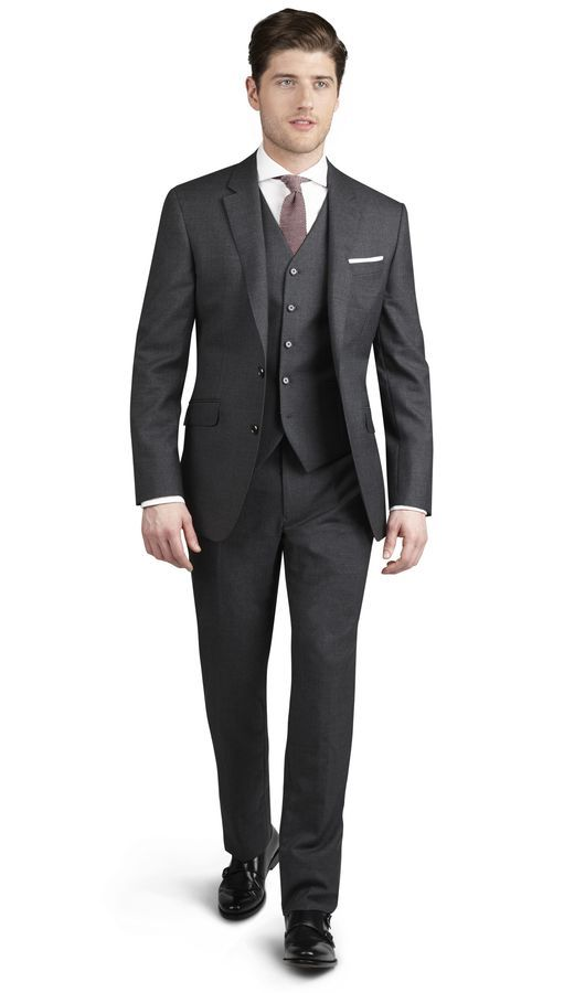 409 Charcoal Italian Wool (slim fit) | TM Lewin | Fashion ...