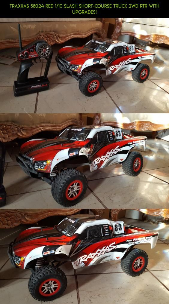 Traxxas 58024 RED 1/10 Slash Short-Course Truck 2WD RTR with