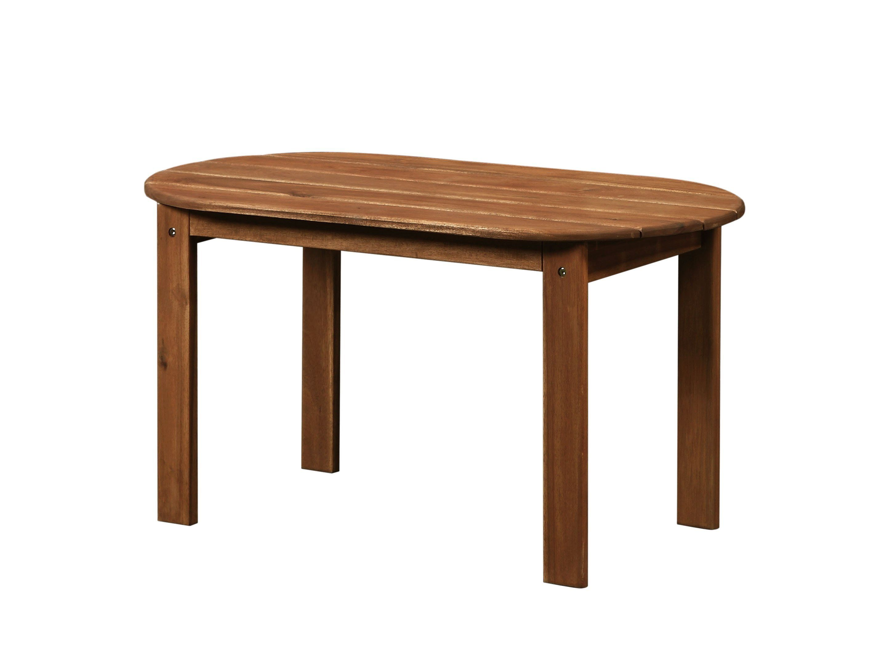 Adirondack Teak Finish Coffee Table Oval Coffee Tables Solid