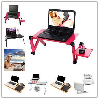Details About Adjustable Notebook Laptop Desk Aluminum