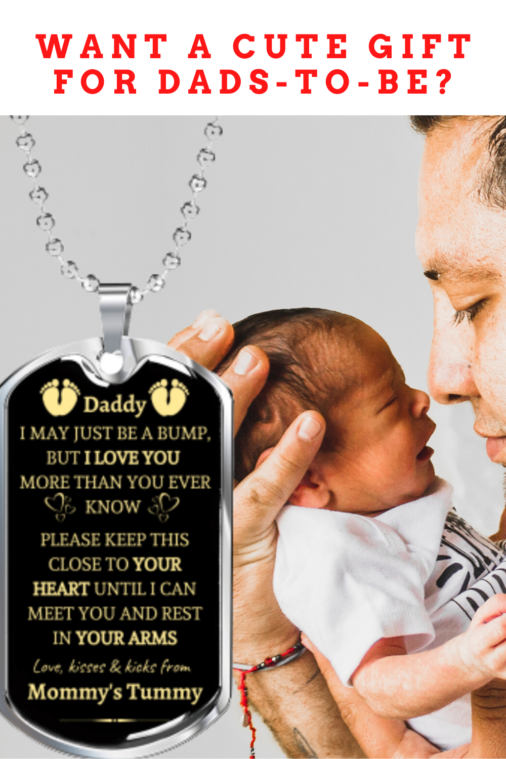 """""""To Daddy to be"""" I Love You, from Baby Bump - Dog Tag ..."""
