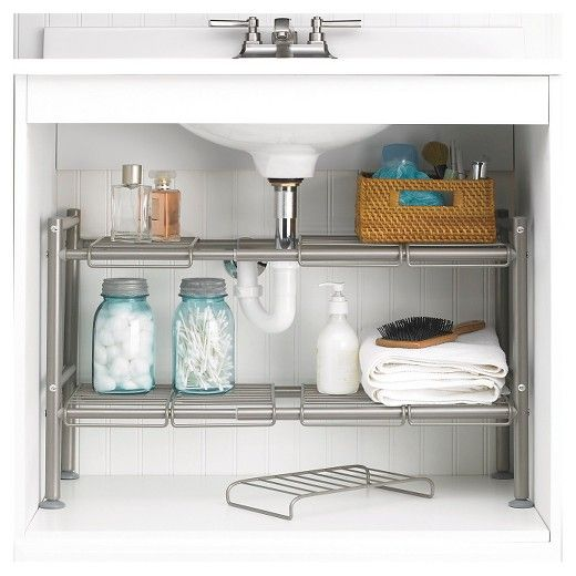 . 88 Main Expandable Under Sink Storage Rack Champagne in 2019   New