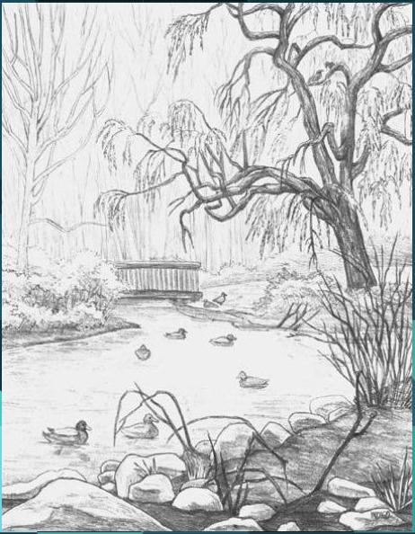 Landscape Pencil Drawings Simple Landscape Drawing Landscape