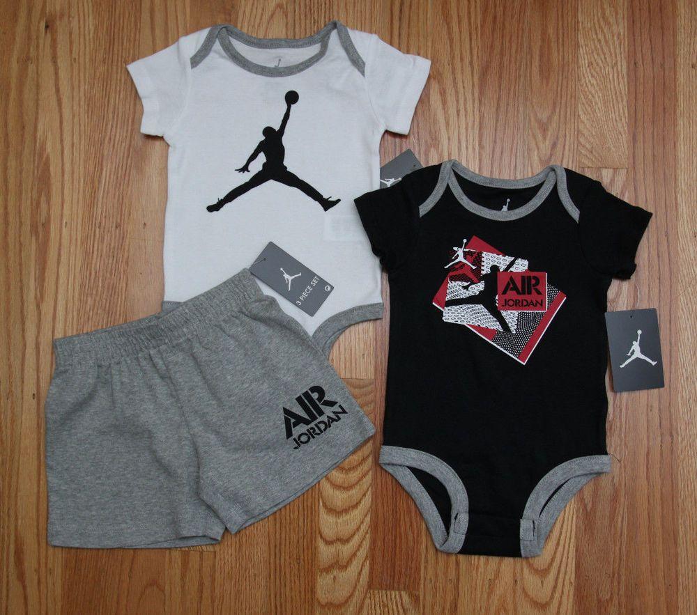Air Jordan Baby Boy 2 Bodysuits