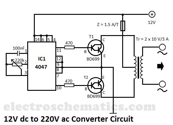 DC to AC Converter 12V to 220V Voltage Converter