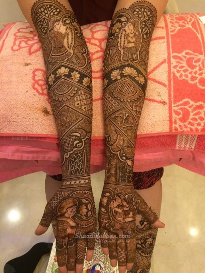 Groom & Bride Mehndi Design Bridal mehendi designs