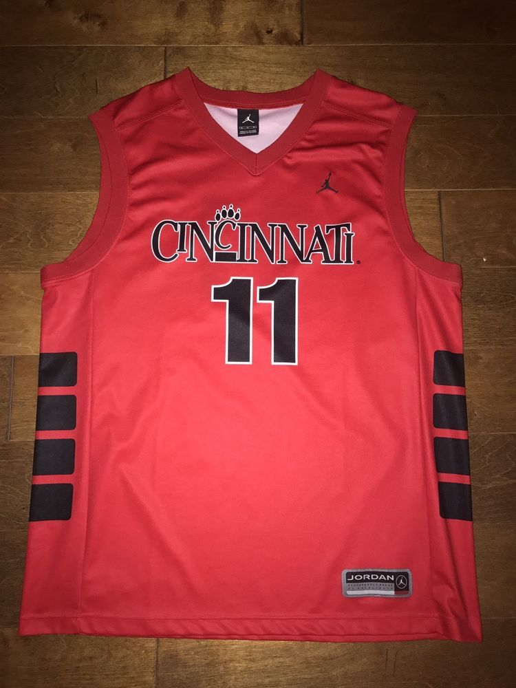 3803b46c45b9 Authentic Cincinnati Bearcats Air Jordan Mens Basketball Jersey  11 Size XL  VTG  Jordan  CincinnatiBearcats