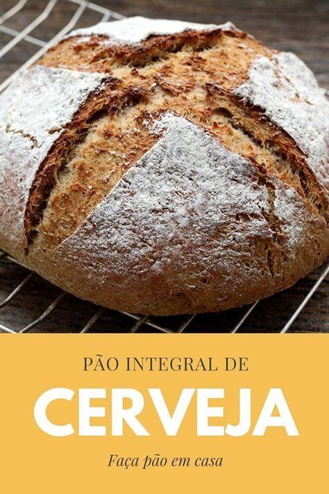 Receita de pão integral de cerveja e mel - Faça uma pão caseiro delicioso, integral, saudável e cheio de sabor. Confira a receita desse pão de de cerveja e deixe o aroma de pão quentinho tomar conta da sua casa. A receita leva cerveja, farinha integral, mel, manteiga, fermento, e farinha de trigo.