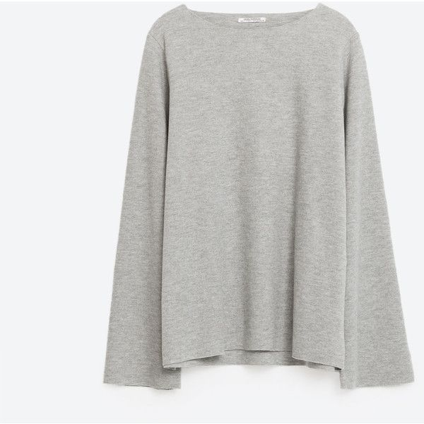 -Sweaters-KNITWEAR-WOMAN | ZARA Saudi Arabia (189 SEK) ❤ liked on Polyvore featuring tops and sweaters