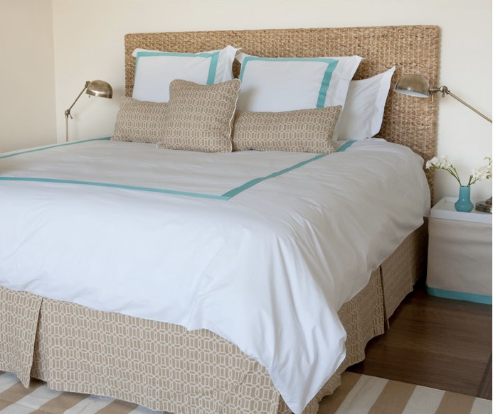 49 Beautiful Beach And Sea Themed Bedroom Designs: Beach Bungalow Inspired Bedroom, Seagrass Headboard, White