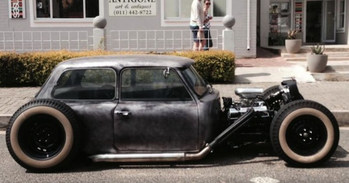 rat rod classic mini hot or not cute and crazy cars. Black Bedroom Furniture Sets. Home Design Ideas