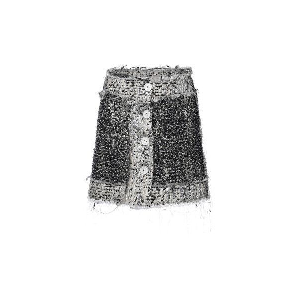 Reversible Tweed Button-Up Miniskirt | Moda Operandi (8,945 CNY) ❤ liked on Polyvore featuring skirts, mini skirts, high waisted mini skirt, button down skirt, mini skirt, high waisted short skirts and a-line skirt