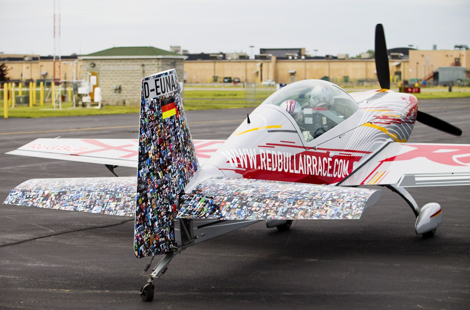 9 X5 Red Bull Air Race Mosaic Plane Wrap Using Adhesive