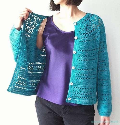 Patron para hacer un sueter tejido a crochet para dama04 | Yop ...