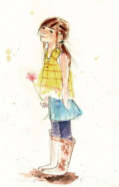 Julia Denos Illustration Character Design Watercolor Illustration