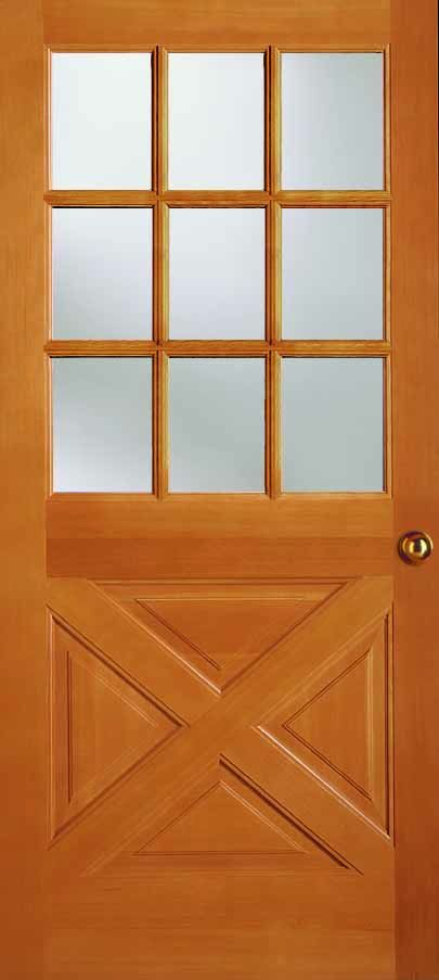 Exterior Solid Douglas Fir 9 Lite Crossbuck Panel Bottom Wood Exterior Door Exterior Entry Doors Types Of Doors