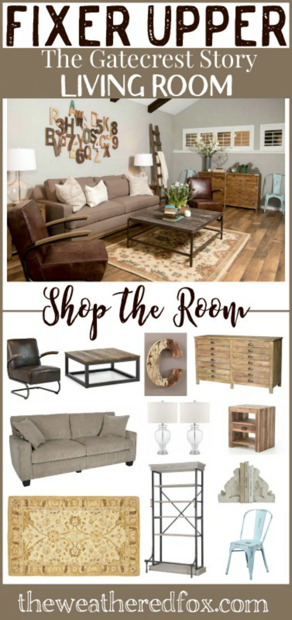 Get The Look Of This Fixer Upper Living Room Gatecrest