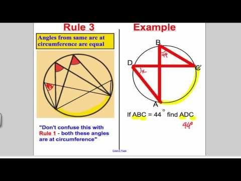 Circle Theorems Gcse Maths Higher Calculation Maths