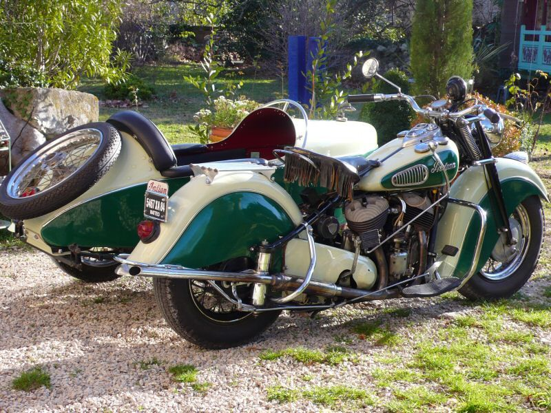 1947 Indian Chief 346 (with sidecar) Classic motorcycles