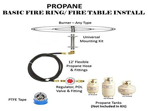 Amazon Com Create Convert Your Wood Fire Pit To Propane Diy Propane Fire Pit Kit 6 Complete Ba Diy Propane Fire Pit Propane Fire Pit Kit Propane Fire Pit