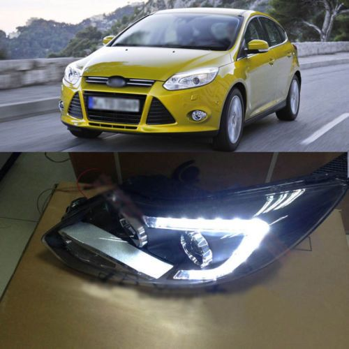 Model C Blade Led Bi Xenon Projector Lens Headlight For New Ford Focus