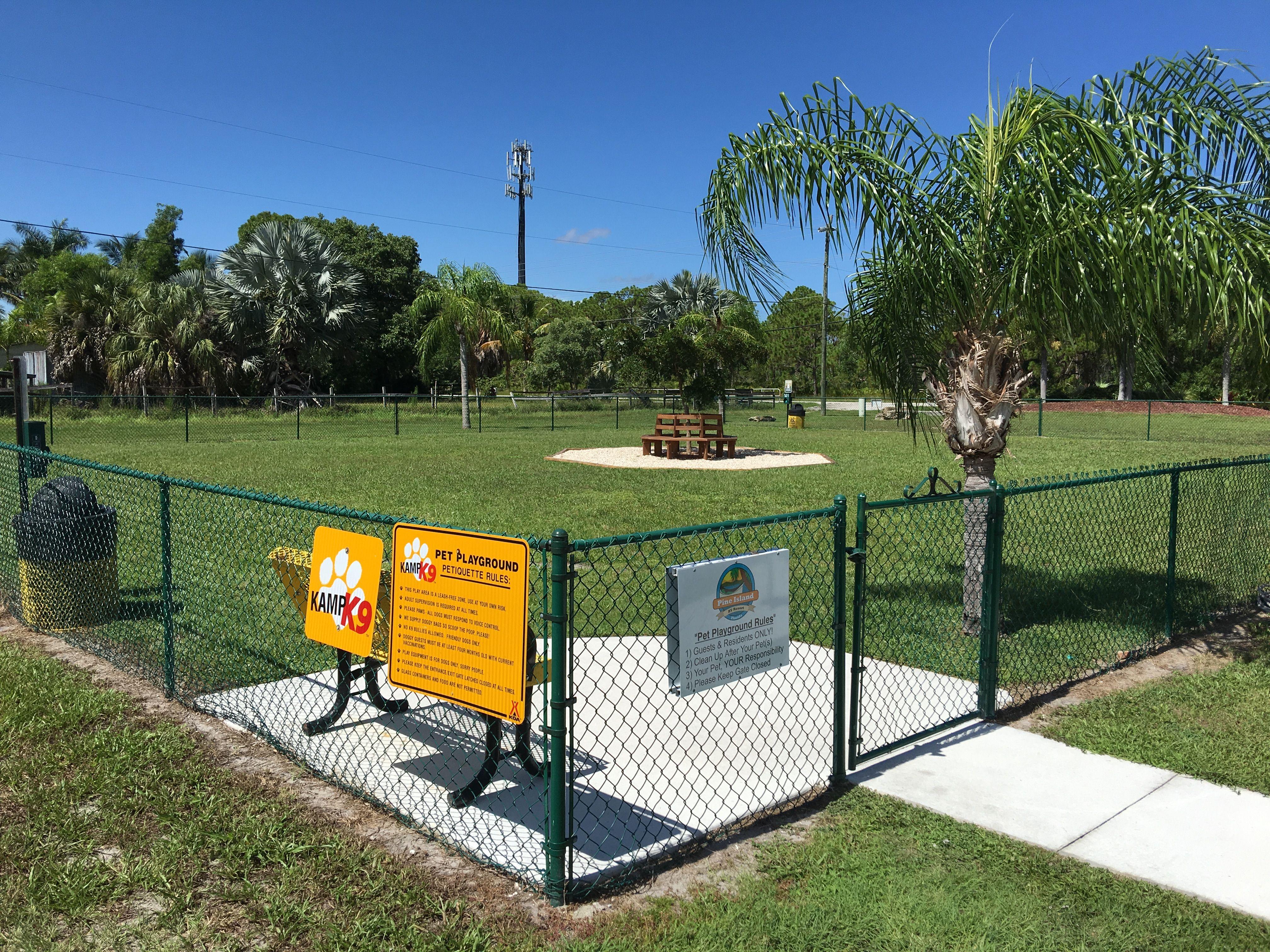 Big Kamp K9 Park At The Fort Myers Pine Island Koa Florida Campgrounds Pine Island Fort Myers