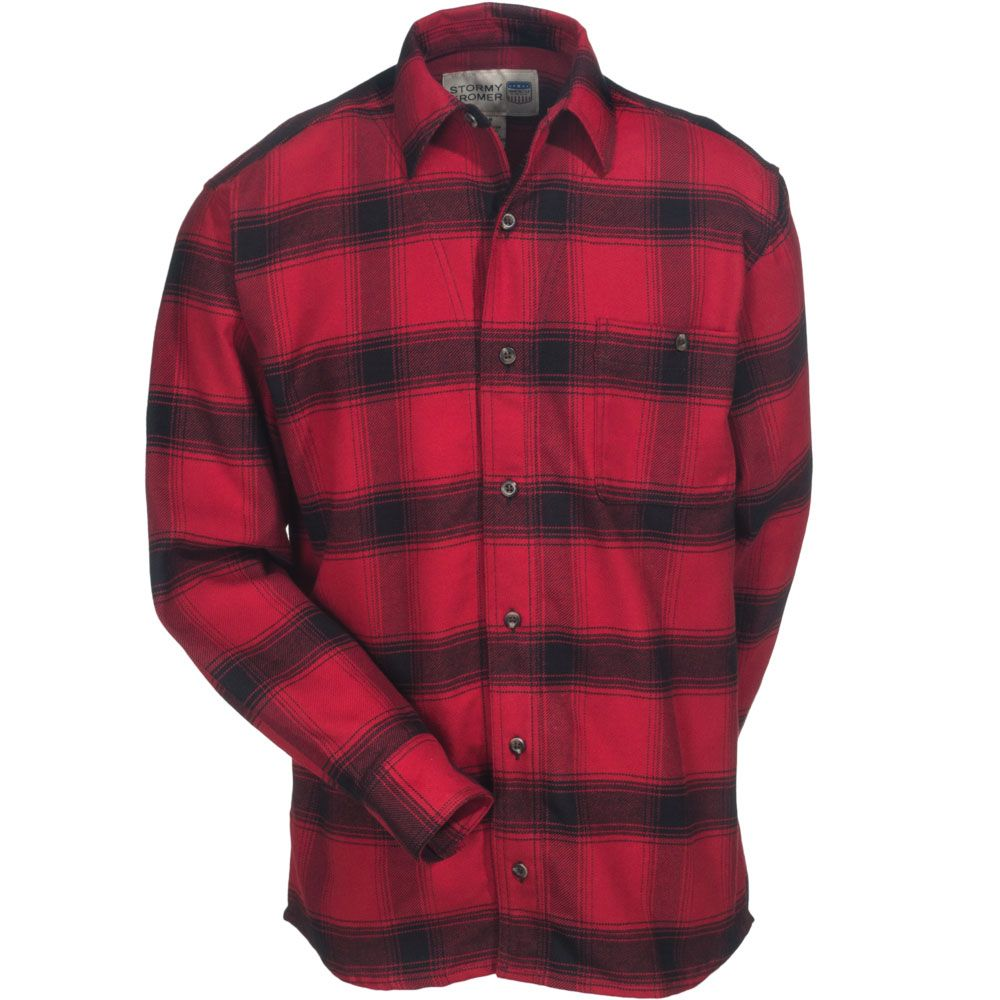 Red flannel shirts  Stormy Kromer Menus USAMade Cotton Flannel Shirt