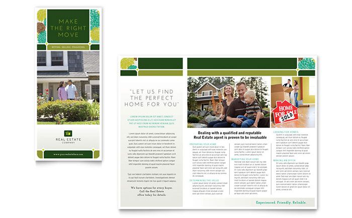 Real Estate Brochure Design Template By Stocklayouts  Marketing