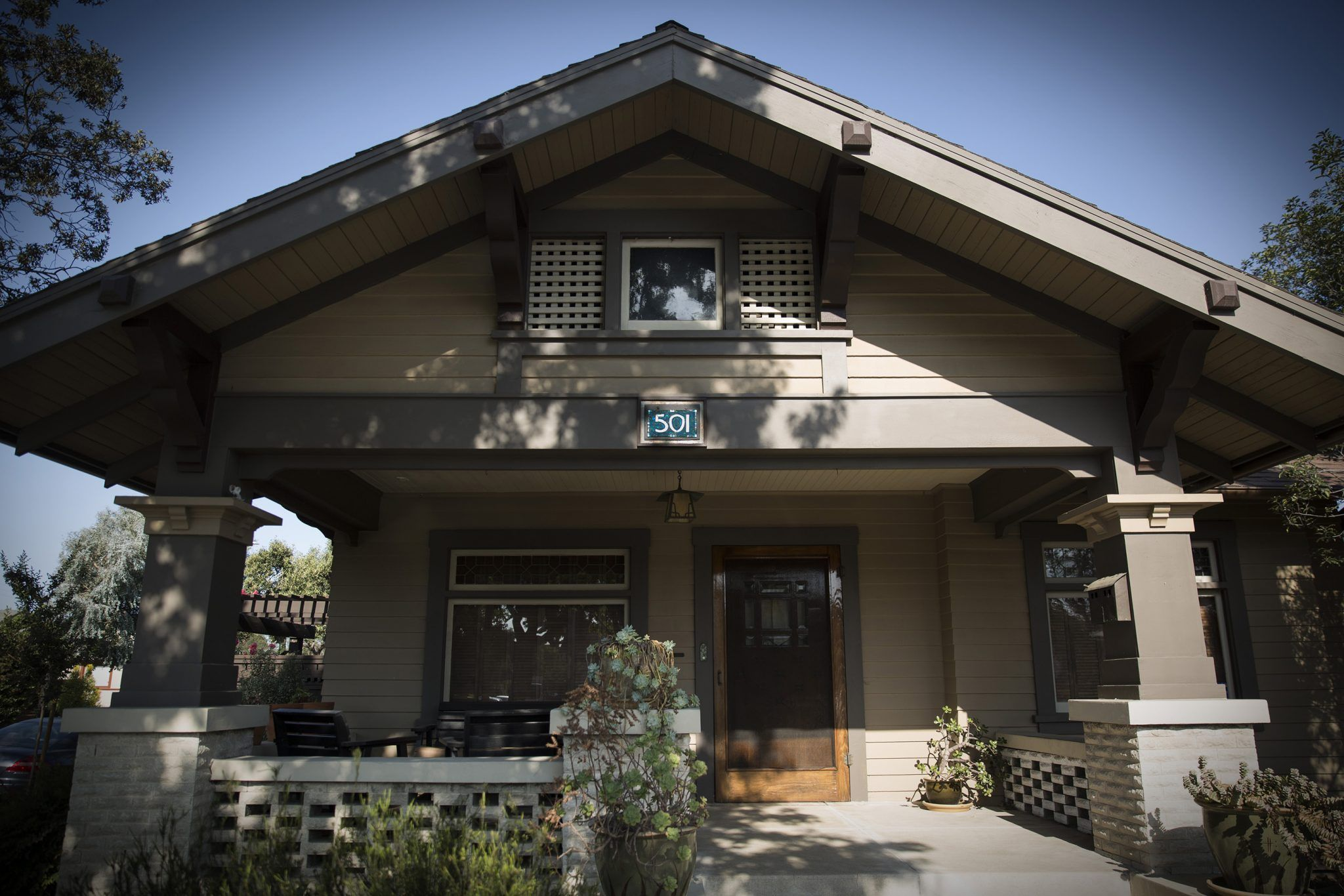 House Number For A Historic Craftsman Bungalow In Long Beach By
