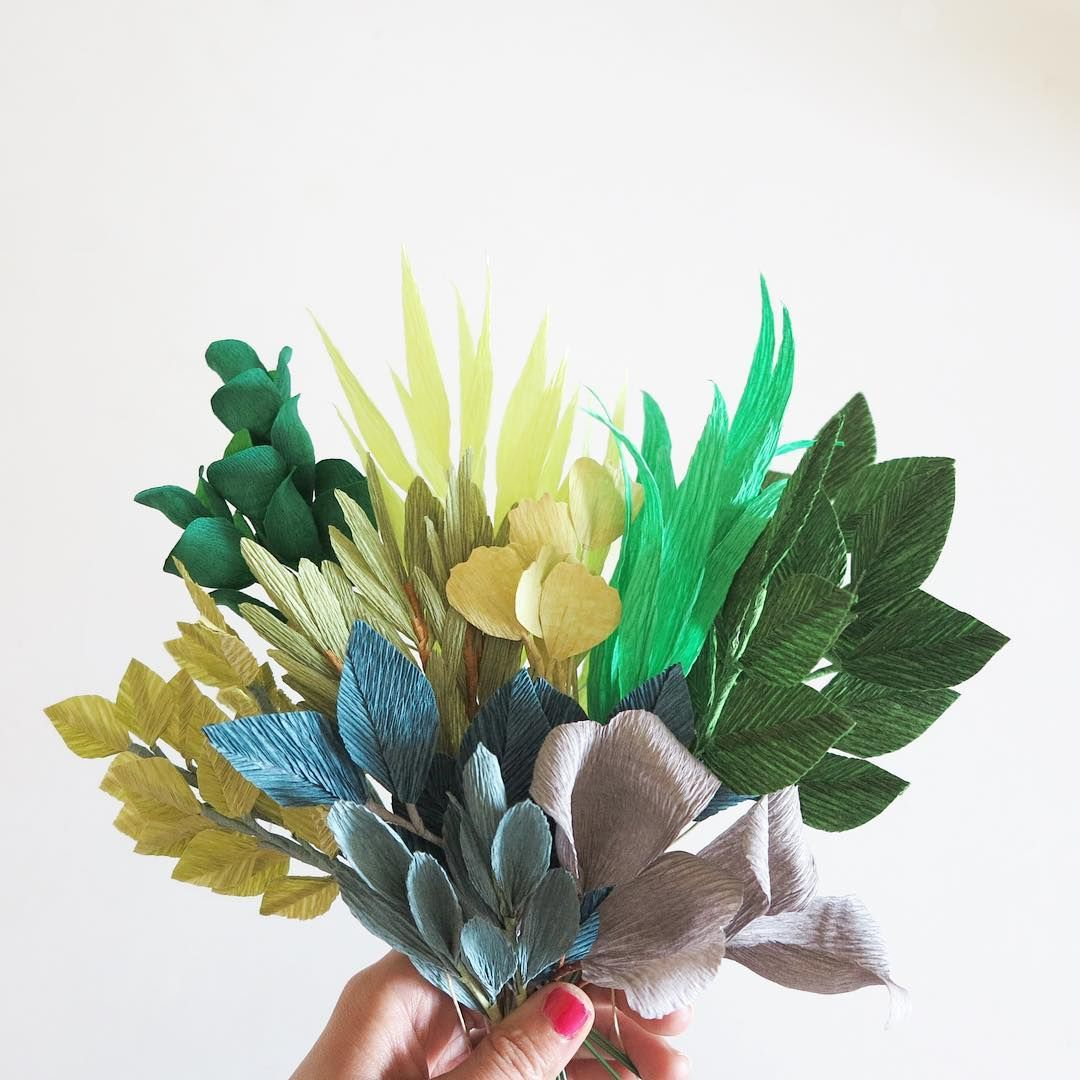 All About Paper Leaves Today Crepepaperflower Paperflowers