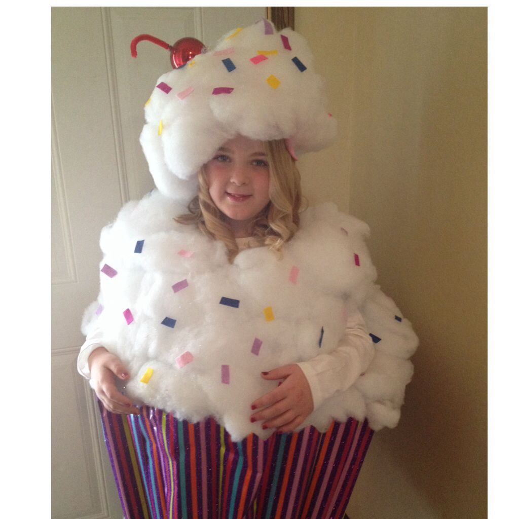 Diy cupcake costume fall halloween ideas pinterest for Homemade halloween costumes for kids