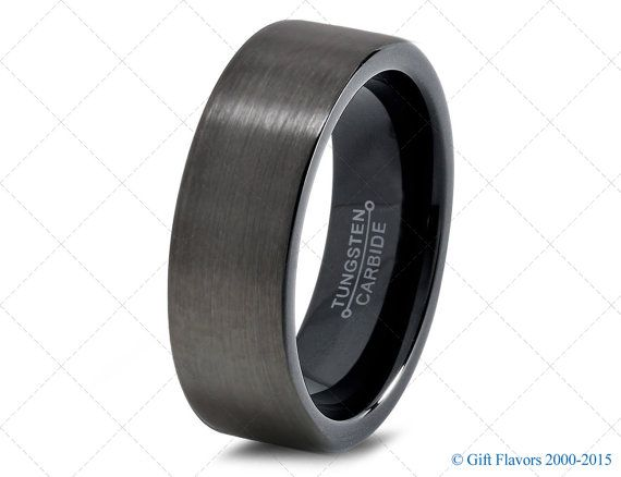 Tungsten Ring 8mm Domed Brushed Stepped Edge Ring Tungsten Band Mens Womens Wedding Band Anniversary Wedding Band Personalized Engraving