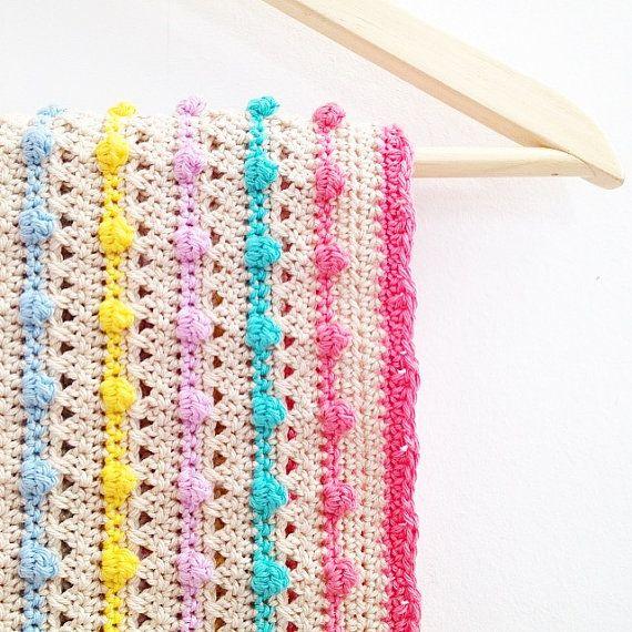 Crochet Bobble Stitch Blanket Pattern | Pinterest | Crochet doble ...