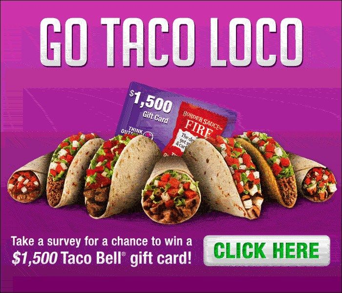 Go Taco Loco and Win a $1500 Taco Bell Gift Card - http ...