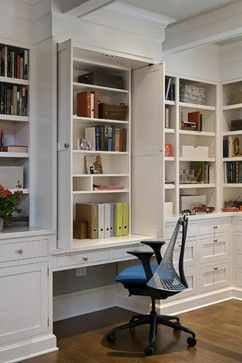 New York Transformation Traditional Home Office New York By Crisp Architects Love The Doors T Home Office Storage Traditional Home Office Built In Desk