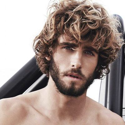 Cool Blonde Shaggy Curls For Men Latest Hairstyles 2015 Check More At Http Mensfadehaircut Com Blonde Shagg Curly Hair Men Thick Hair Styles Long Hair Styles