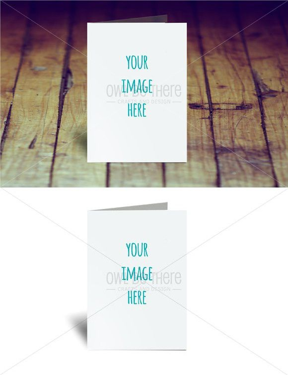 5x7 Plain Greeting Card Mockup Greeting Card Template Print Greeting Cards Note Card Template