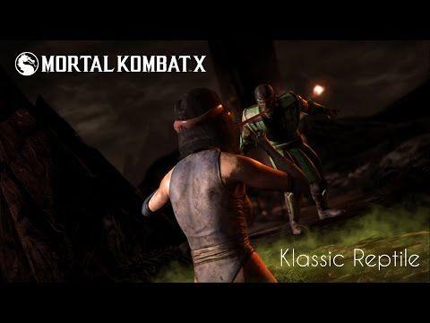 Mortal Kombat X Klassic Reptile Vs Klassic Kitana Hd Youtube