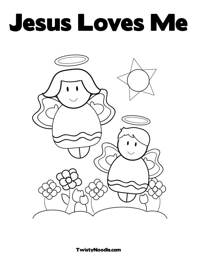 God Loves Me Coloring Page | Coloring Pages | Pinterest