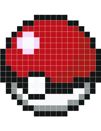 Pokeball Pixel Art Grid For Pokeball I Pixel Art Minecraft Pixel