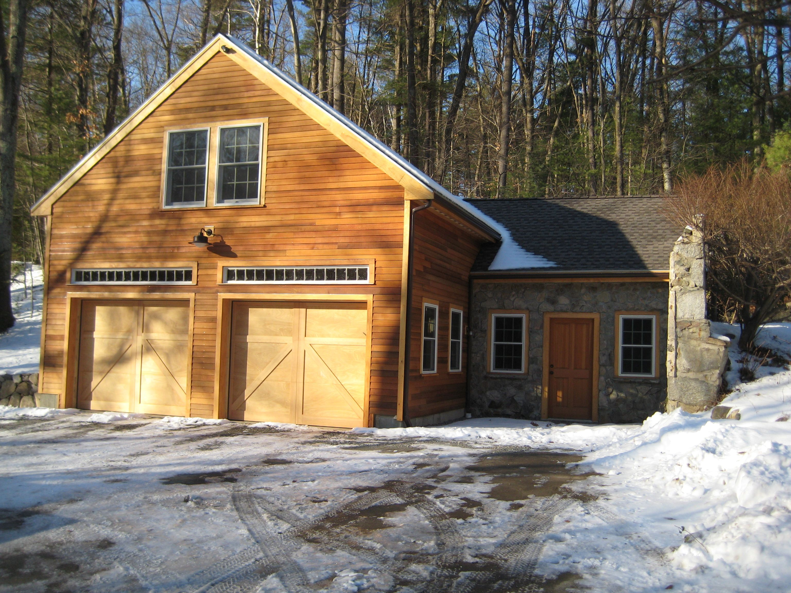Garage addition we completed in weston ma the home not for Log garage designs