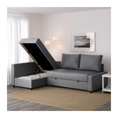 Friheten sof cama esquina skiftebo gris oscuro ikea for Grey double divan bed