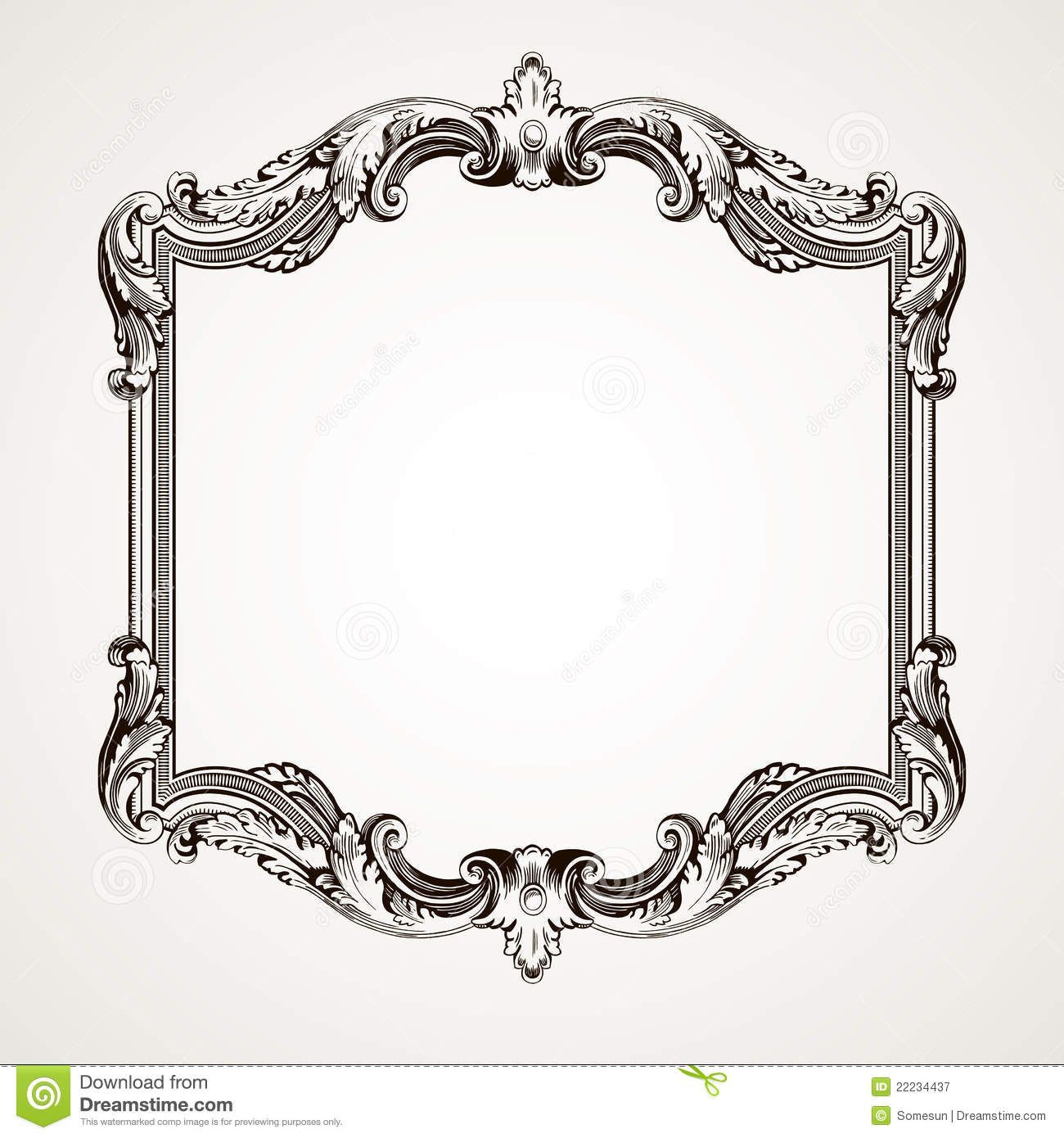 Vector Vintage Border Frame Engraving Download From Over 55 Million High Quality Stock Photos Images Vectors Vintage Borders Ornament Frame Retro Ornaments
