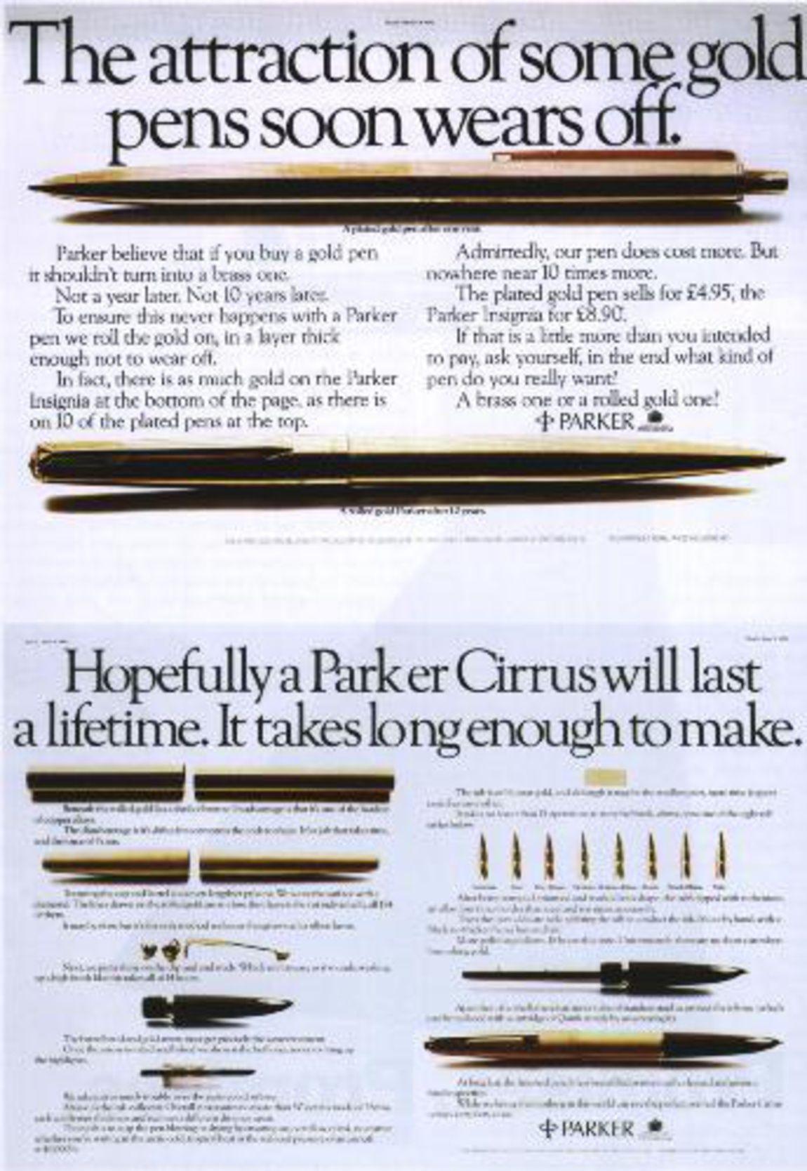 Read more: https://www.luerzersarchive.com/en/magazine/print-detail/parker-26963.html Parker Year: 1977 Tags: Parker,Collett Dickenson Pearce & Partners Ltd, United Kingdom,Tony Brignull,Neil Godfrey