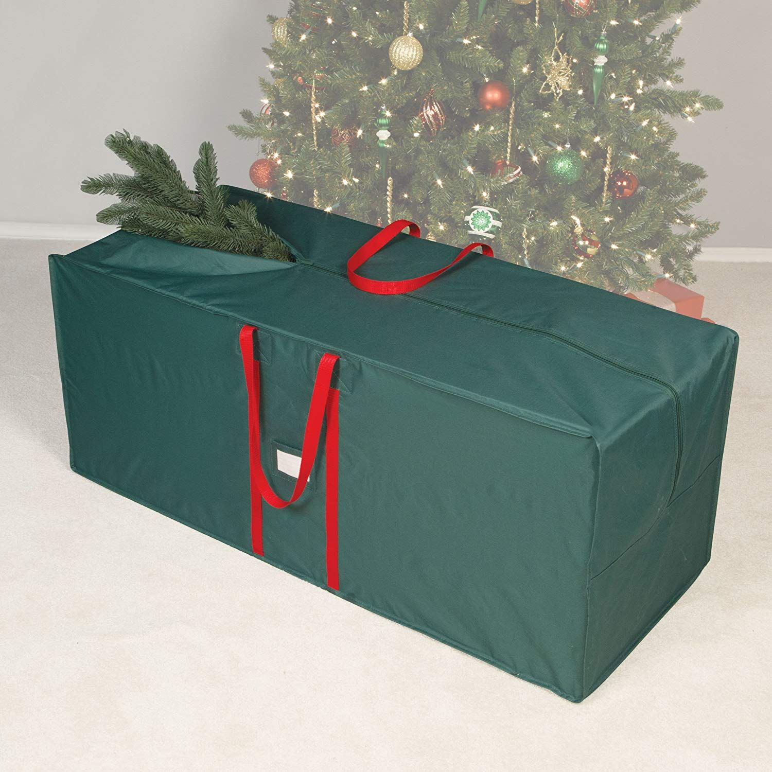 Holiday 48 Tree Bag With Carrying Handle You Could Learn More Information At The Link Of T Christmas Tree Bags Storage Christmas Tree Storage Bag Tree Bag