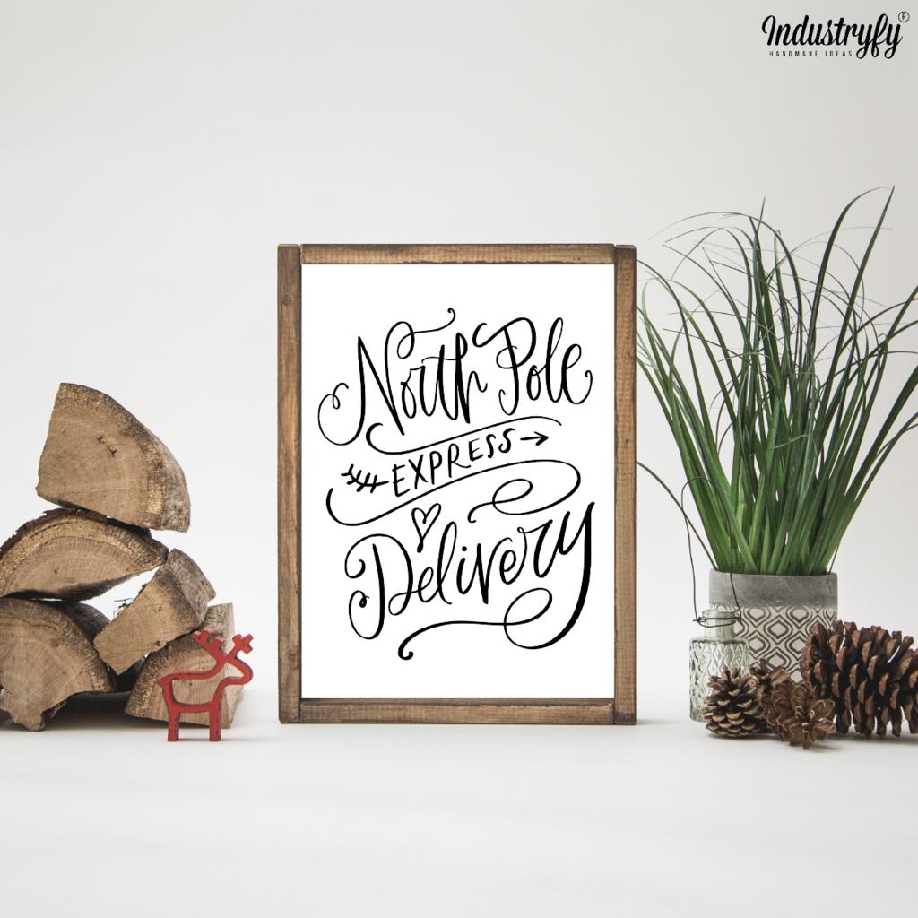Farmhouse Design Schild North Pole Weihnachten Dekoration Werkstatt Fur Behinderte Menschen Design