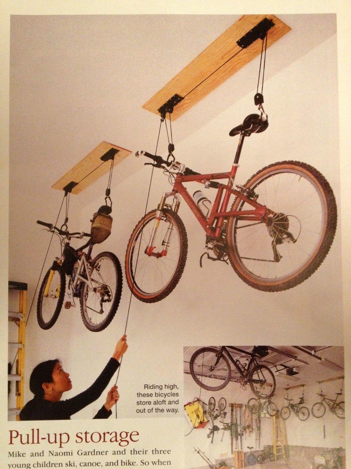 Pull Up Bike Storage.