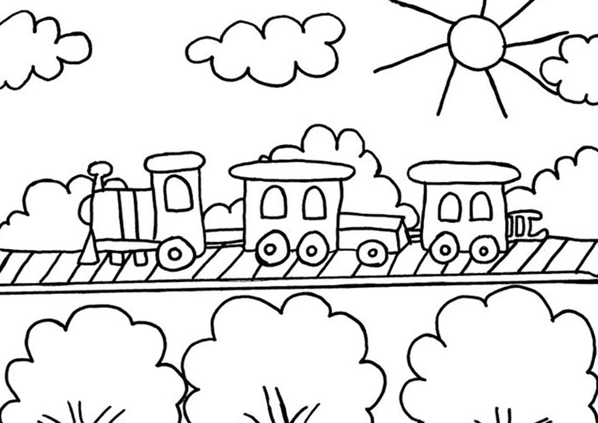 Free Easy To Print Train Coloring Pages Train Coloring Pages Coloring Pages Cute Coloring Pages