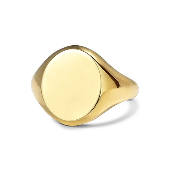 Heavy 18ct Yellow Gold Signet Ring by Sinantiques on Etsy, £700.00